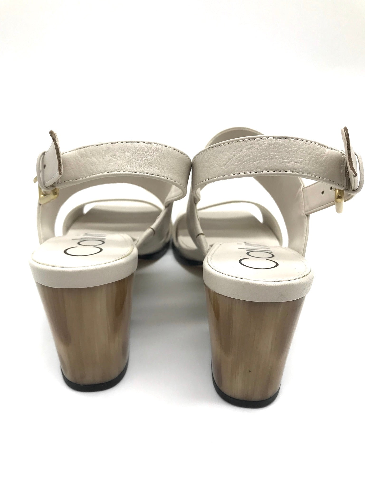 Photo #1 - BRAND: CALVIN KLEIN <BR>STYLE: SANDALS LOW <BR>COLOR: BEIGE <BR>SIZE: 7 <BR>SKU: 262-26275-64396<BR>LIKE NEW CONDITION - AS IS