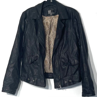 Primary Photo - BRAND: KUT STYLE: JACKET OUTDOOR COLOR: BLACK SIZE: L OTHER INFO: FAUX LEATHER SKU: 262-26211-141926