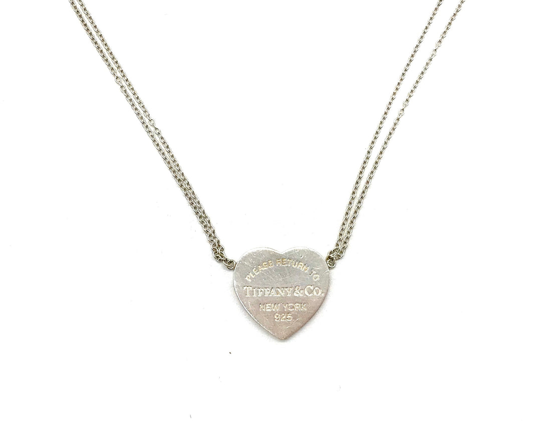"Photo #1 - BRAND: TIFFANY AND COMPANY <BR>STYLE: RETURN TO TIFFANY HEART TAG DOUBLE CHAIN 16"" NECKLACE <BR>COLOR: HEART <BR>SKU: 262-26275-64433<BR>GENTLE SCRATCHES AND WEAR<BR>DESIGNER BRAND - FINAL SALE"