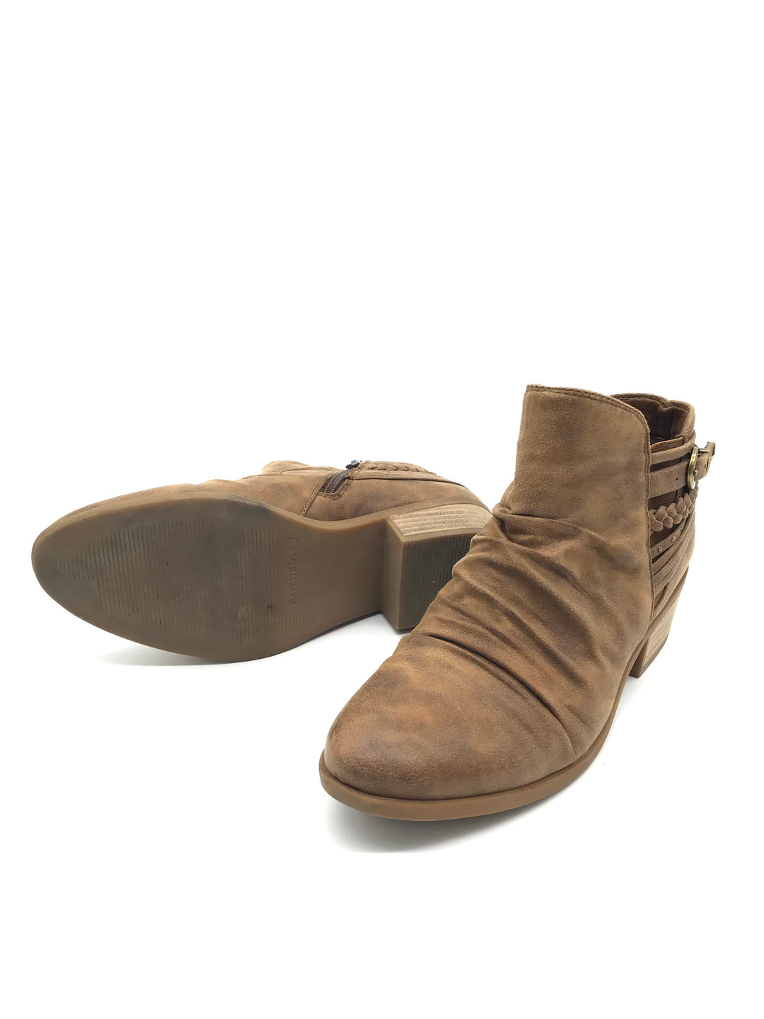 Photo #4 - BRAND: BARE TRAPS <BR>STYLE: BOOTS ANKLE <BR>COLOR: BROWN <BR>SIZE: 7.5 <BR>SKU: 262-26211-136098<BR>AS IS