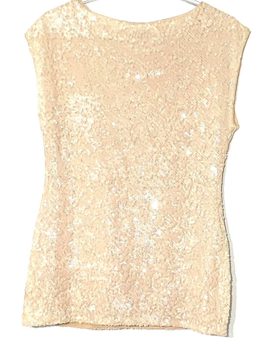 Photo #1 - BRAND: ALICE + OLIVIA <BR>STYLE: TOP SLEEVELESS <BR>COLOR: SEQUIN <BR>SIZE: XS/TP<BR>SKU: 262-26275-68633<BR>BRILLIANCE IN SPARKLES<BR>DESIGNER FINAL