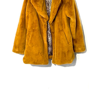 Primary Photo - BRAND: JESSICA SIMPSON STYLE: COAT SHORT COLOR: MUSTARD SIZE: L SKU: 262-26241-44551FAUX FUR