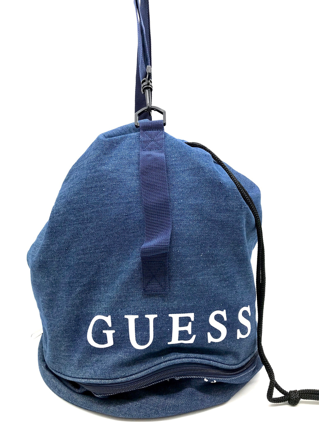 Primary Photo - <P>BRAND: GUESS <BR>STYLE: BACKPACK/HANDBAG <BR>COLOR: DENIM <BR>SIZE: SMALL <BR>SKU: 262-26275-64641<BR>AS IS</P>