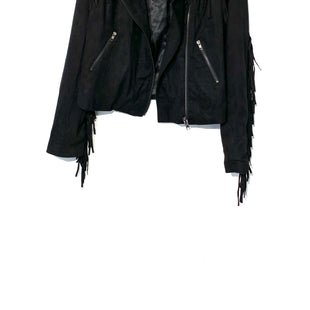 Primary Photo - BRAND: BLU PEPPER STYLE: JACKET OUTDOOR COLOR: BLACK SIZE: L SKU: 262-26275-701303% SPANDEX FAUX LEATHER