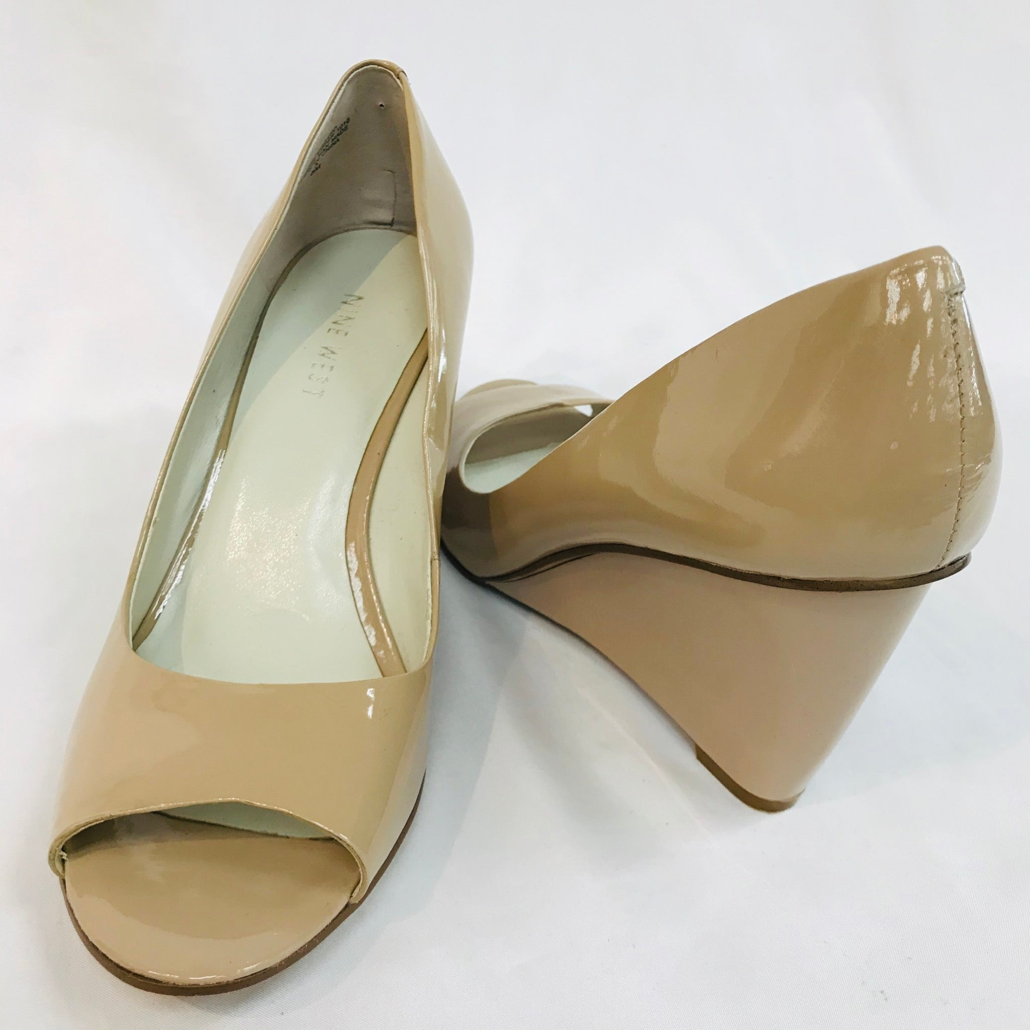 Photo #1 - BRAND: NINE WEST<BR>STYLE: SHOES LOW<BR>COLOR: NUDE <BR>SIZE: 8 <BR>SKU: 262-26275-48894<BR>- AS IS -