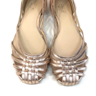 Primary Photo - BRAND: COACH STYLE: SANDALS FLAT COLOR: GOLD SIZE: 10 SKU: 262-26241-36360DESIGNER BRAND - FINAL SALE