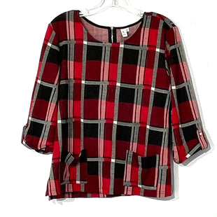Primary Photo - BRAND: JULES & LEOPOLD STYLE: TOP LONG 3/4 SLEEVE COLOR: PLAID SIZE: XL SKU: 262-26275-73986