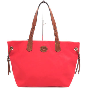 "Primary Photo - BRAND: DOONEY AND BOURKE STYLE: SHOPPERCOLOR: RED SIZE: 11""H X 18.5""L X 6.5""WDROP: 9""SKU: 262-26241-46101"