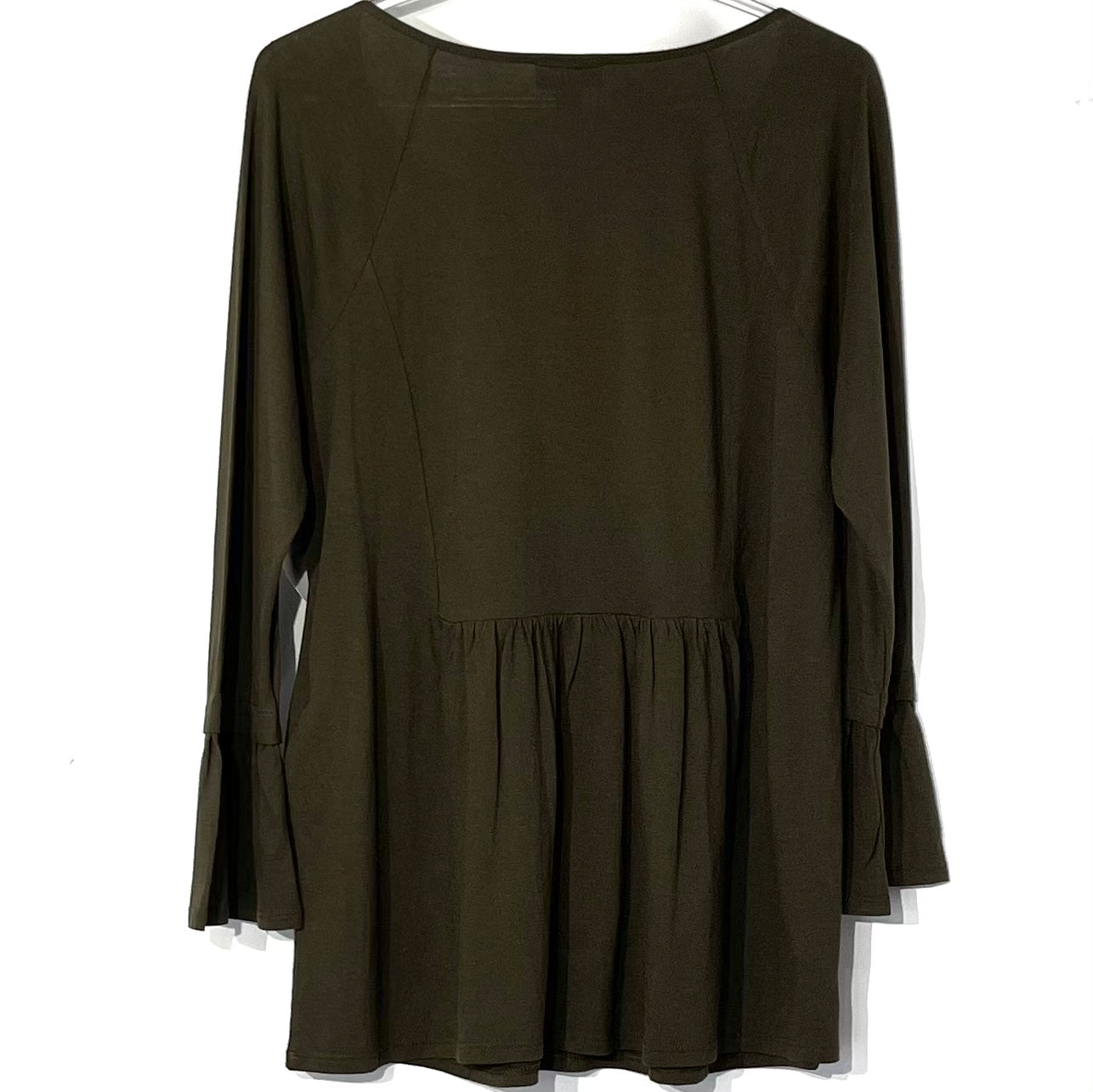 Photo #1 - BRAND: J JILL <BR>STYLE: TOP LONG SLEEVE <BR>COLOR: OLIVE <BR>SIZE: S <BR>SKU: 262-26275-70197