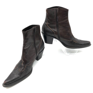 Primary Photo - BRAND: FRANCO SARTO STYLE: BOOTS ANKLE COLOR: BROWN SIZE: 6.5MSKU: 262-26275-75474. SLIGHT SCUFFING TO TOE.