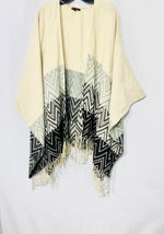 Primary Photo - BRAND: ALBERTO MAKALI <BR>STYLE: SHAWL <BR>COLOR: ZIGZAG <BR>SIZE: M/XL<BR>SKU: 262-26275-69949