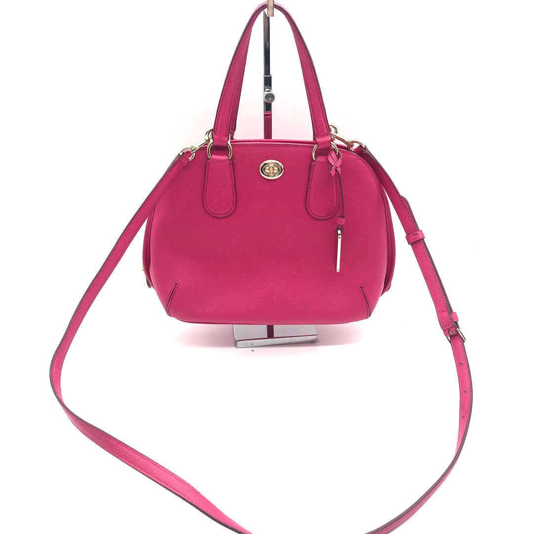 "Primary Photo - BRAND: COACH<BR>STYLE: HANDBAG DESIGNER <BR>COLOR: HOT PINK <BR>SIZE: SMALL <BR>SKU: 262-26275-74425<BR>AS IS WEAR <BR>DESIGNER BRAND FINAL SALE <BR>APPROX 10""X8""X4"""