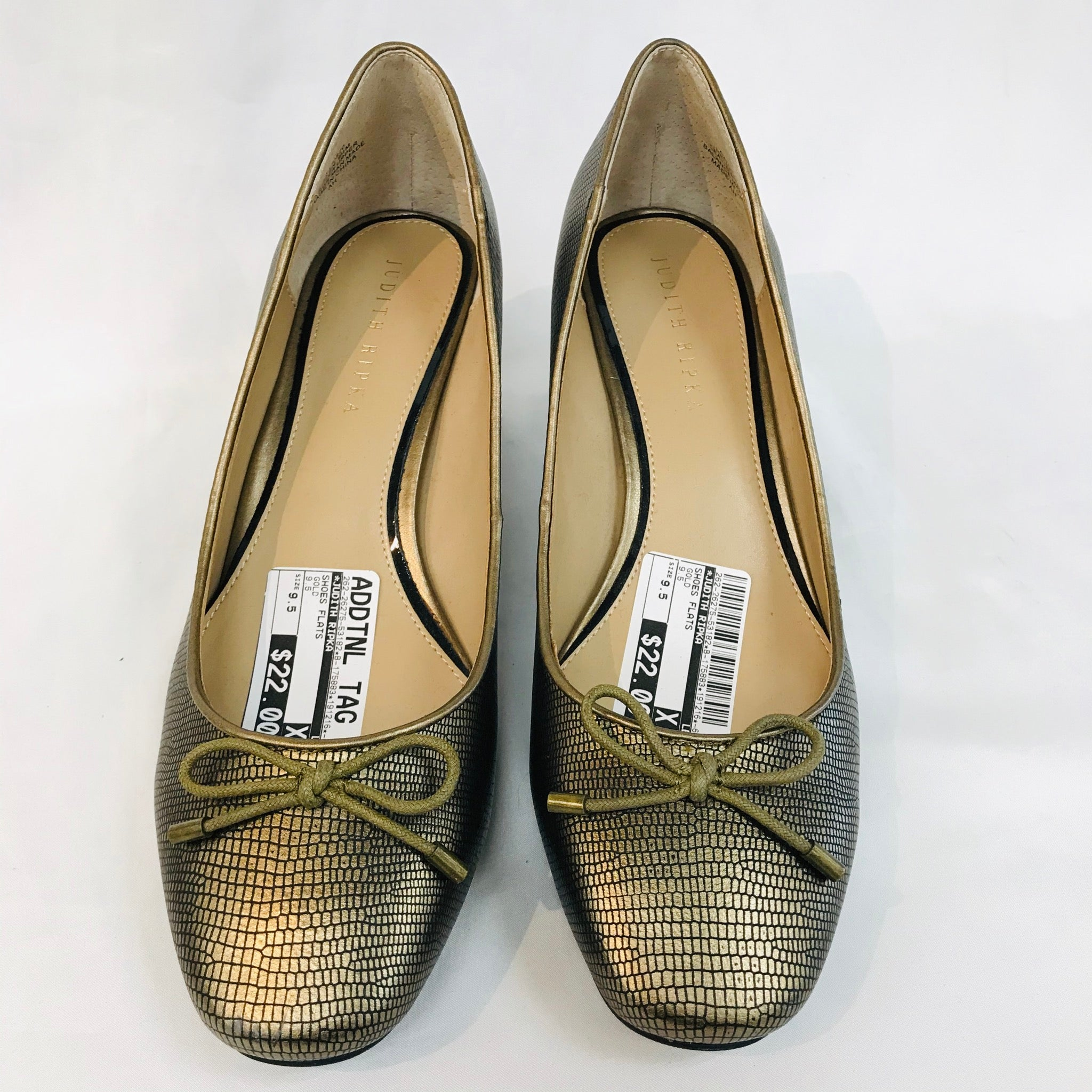 Primary Photo - BRAND: JUDITH RIPKA <BR>STYLE: LOW HEEL<BR>COLOR: GOLD <BR>SIZE: 9.5M<BR>SKU: 262-26275-53182<BR>AS IS