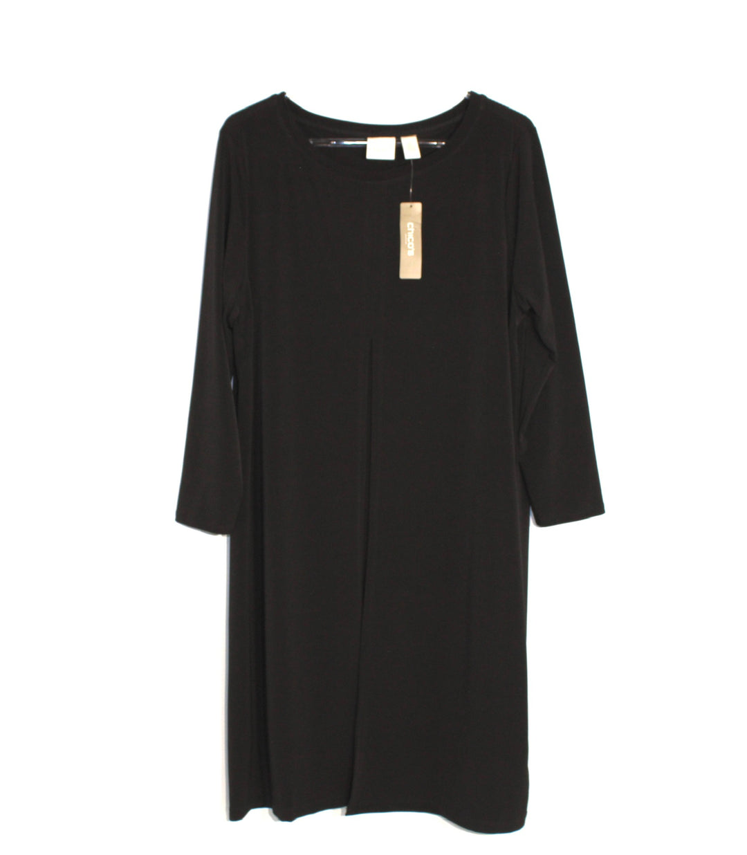 Primary Photo - BRAND: CHICOS <BR>STYLE: DRESS SHORT LONG SLEEVE <BR>COLOR: BLACK <BR>SIZE: L/2<BR>SKU: 262-26275-61132