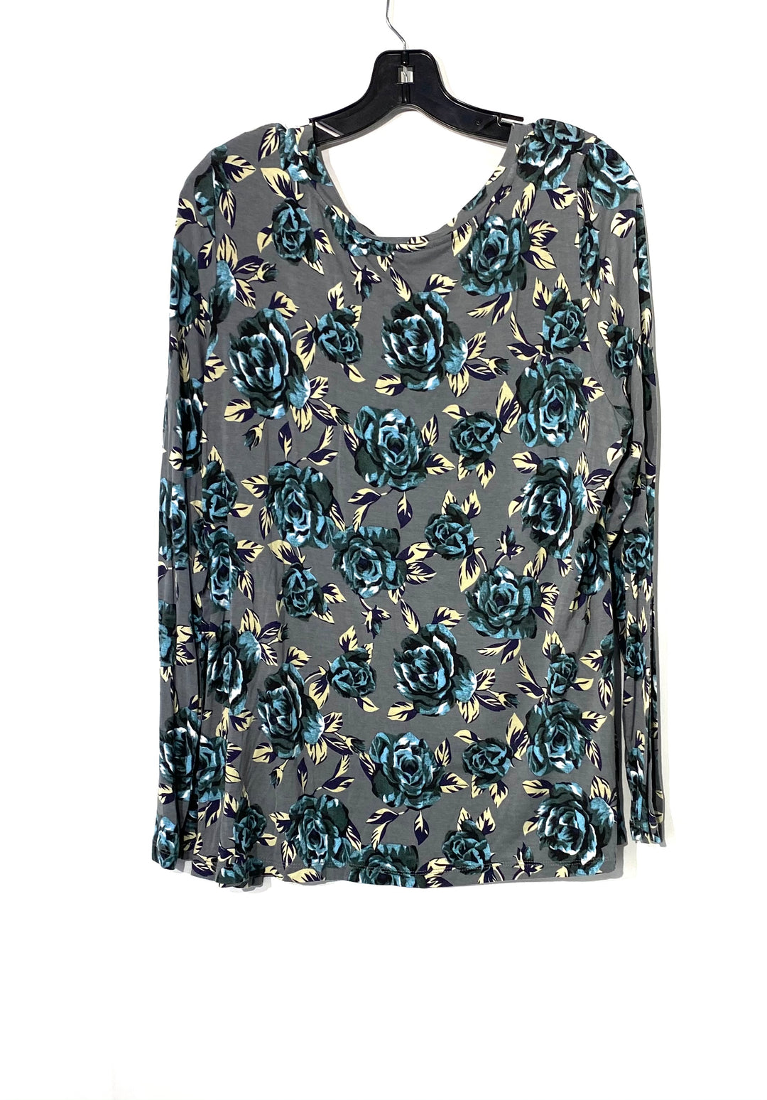 Photo #1 - BRAND: LOGO <BR>STYLE: TOP LONG SLEEVE <BR>COLOR: FLORAL <BR>SIZE: L <BR>SKU: 262-26275-71273