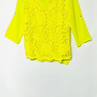 Primary Photo - BRAND: ALBERTO MAKALI STYLE: TOP 3/4 LONG SLEEVE COLOR: NEON YELLOWSIZE: L SKU: 262-26275-45617