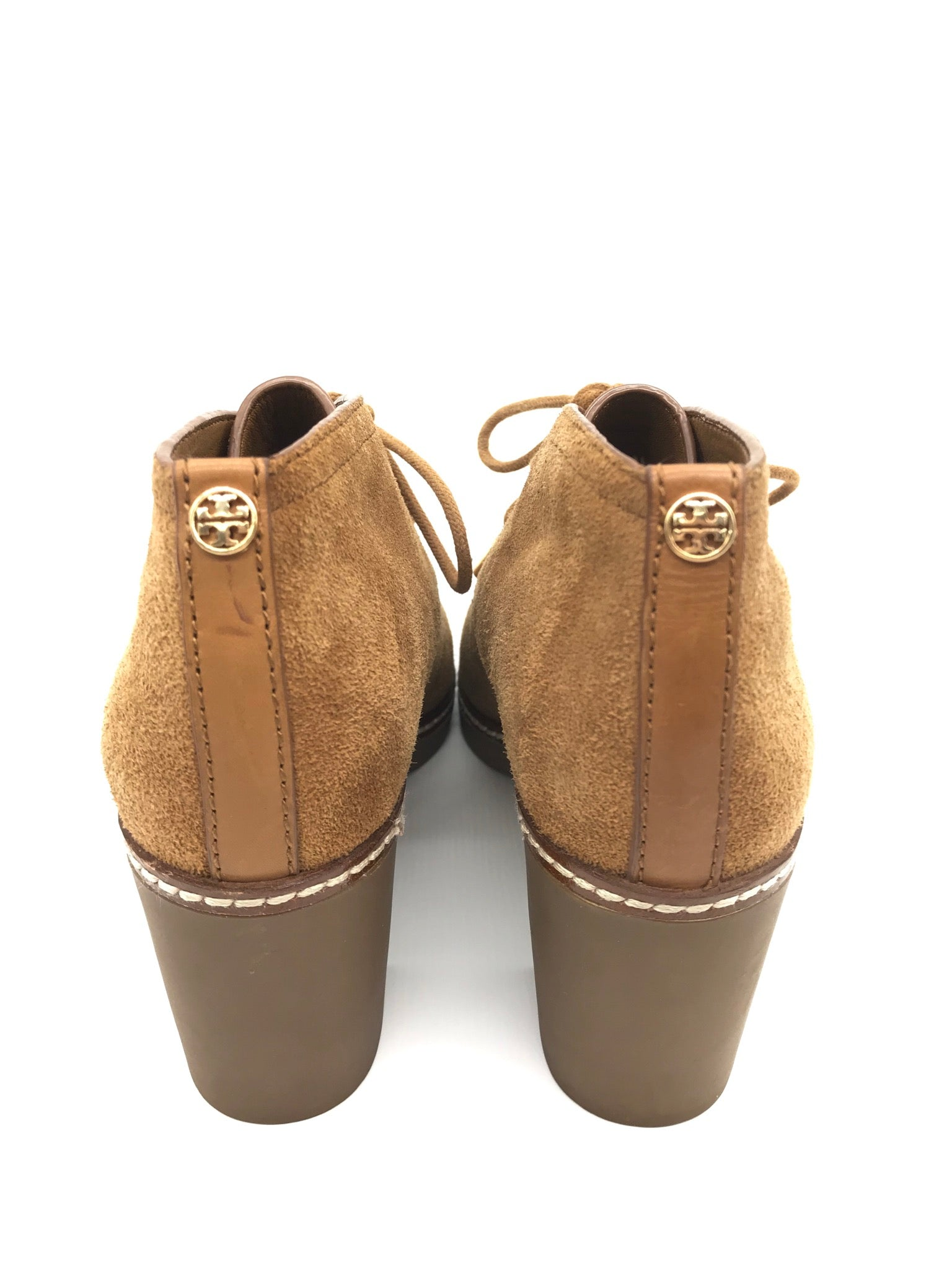 Photo #2 - BRAND: TORY BURCH <BR>STYLE: BOOTS ANKLE <BR>COLOR: TAN <BR>SIZE: 5 <BR>SKU: 262-26275-67368<BR>NEVER WORN - LIKE NEW CONDITION - SHEEP FUR LINING