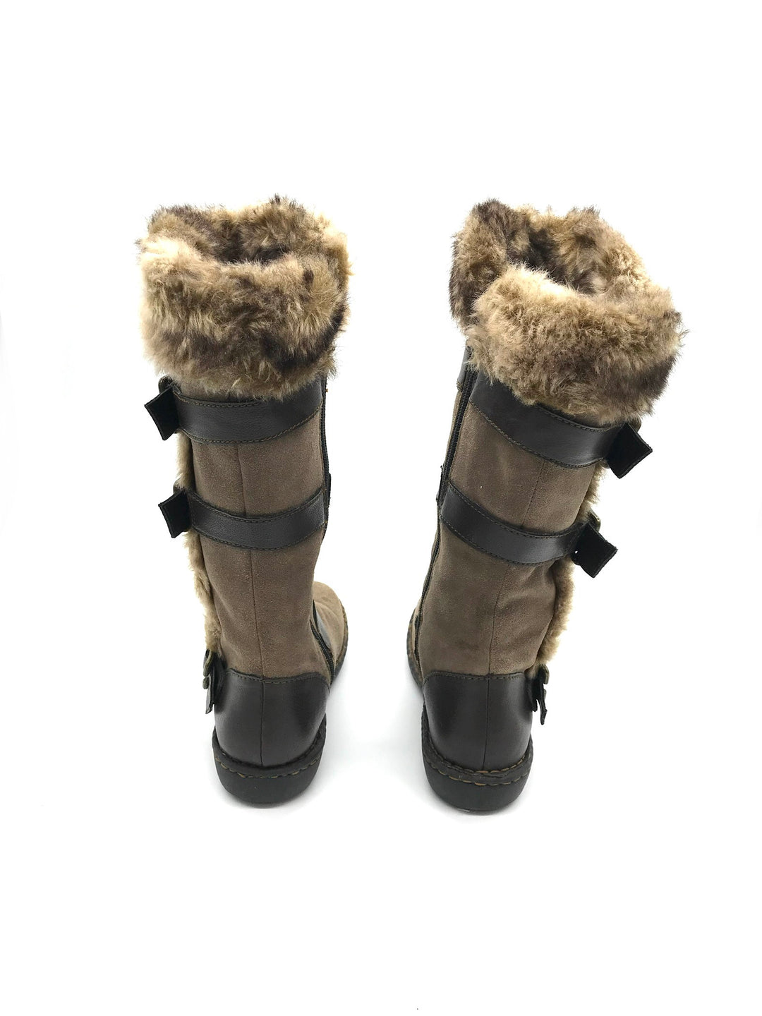 Photo #2 - BRAND: BOC <BR>STYLE: BOOTS ANKLE <BR>COLOR: BROWN <BR>SIZE: 8 <BR>SKU: 262-26275-73082<BR><BR>AS IS WEAR TO FABRIC, SMALL SPOTS