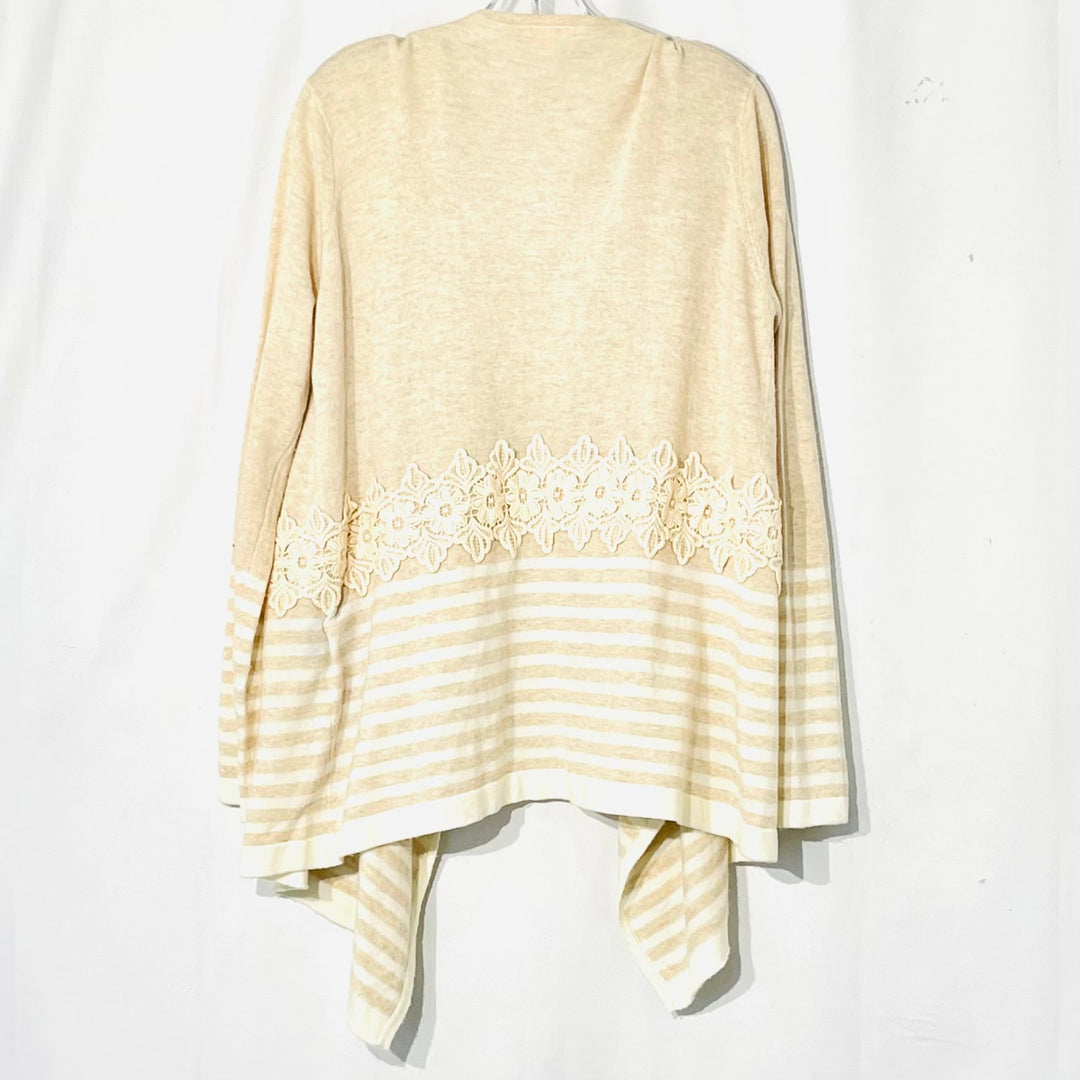 Photo #1 - BRAND: MYSTREE <BR>STYLE: SWEATER CARDIGAN LIGHTWEIGHT <BR>COLOR: BEIGE <BR>SIZE: XL <BR>SKU: 262-26275-65901<BR>3% WOOL