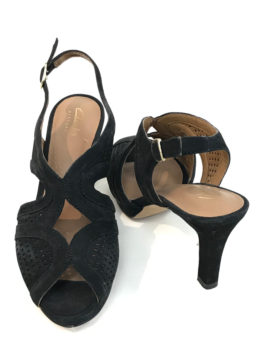 Photo #1 - BRAND: CLARKS <BR>STYLE: SANDALS LOW<BR>COLOR: BLACK <BR>SIZE: 6.5 <BR>SKU: 262-26275-46629<BR>AS IS