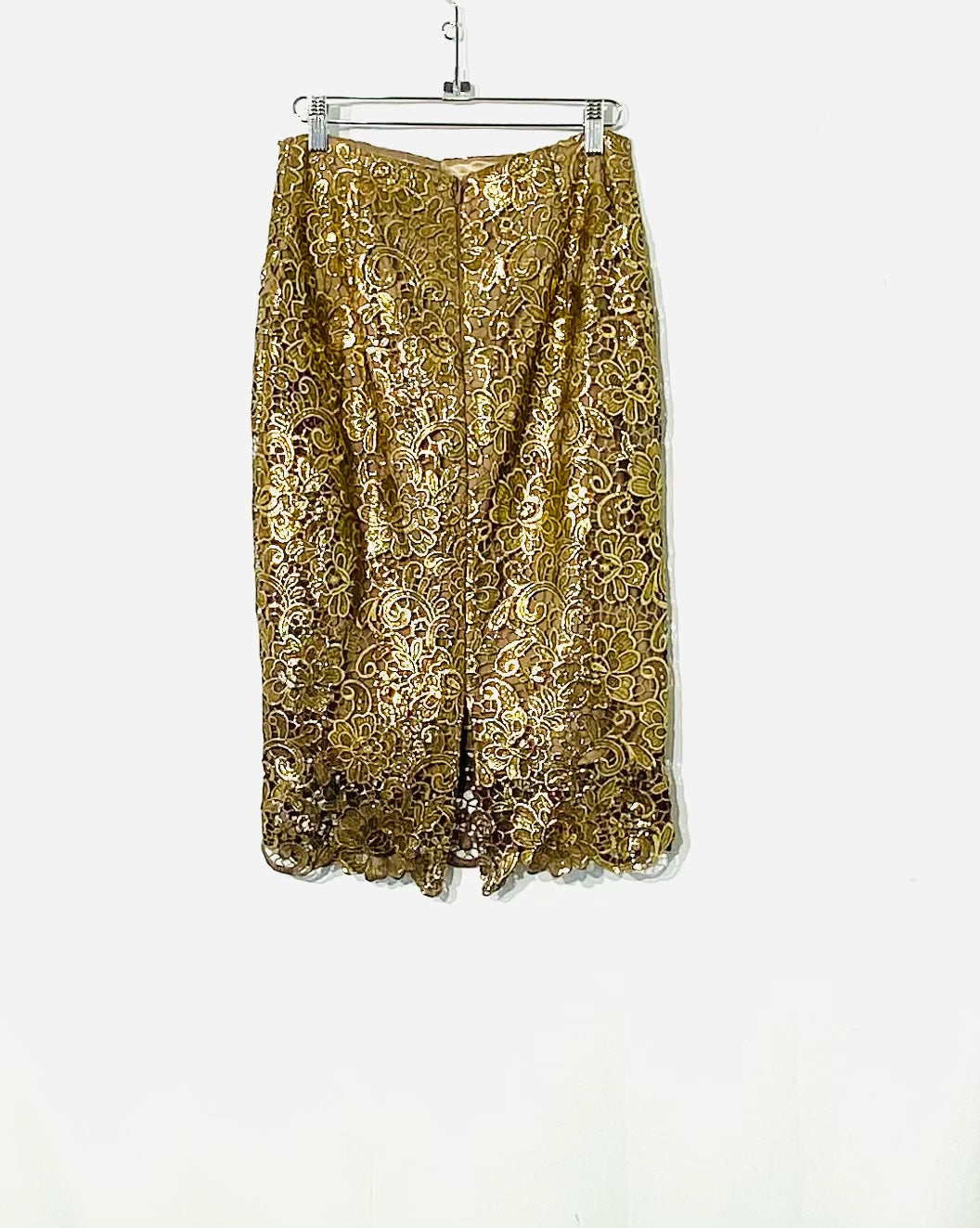 Photo #1 - BRAND: WHITE HOUSE BLACK MARKET <BR>STYLE: SKIRT <BR>COLOR: GOLD <BR>SIZE: XS /2<BR>SKU: 262-26275-70619