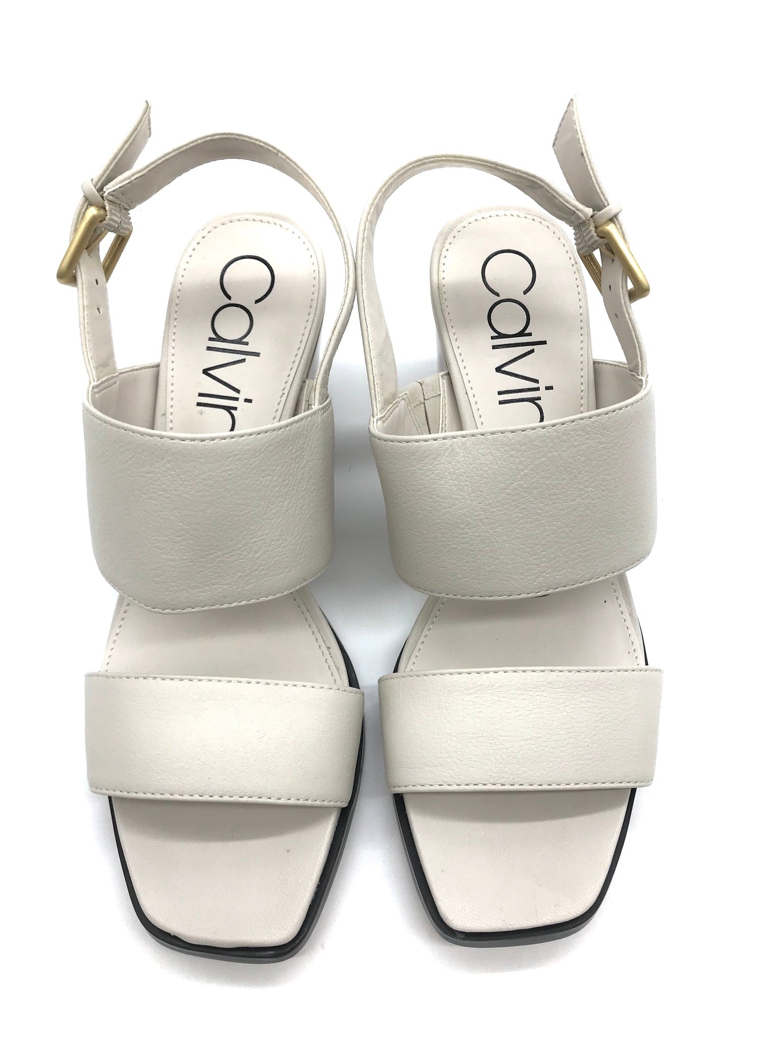 Primary Photo - BRAND: CALVIN KLEIN <BR>STYLE: SANDALS LOW <BR>COLOR: BEIGE <BR>SIZE: 7 <BR>SKU: 262-26275-64396<BR>LIKE NEW CONDITION - AS IS