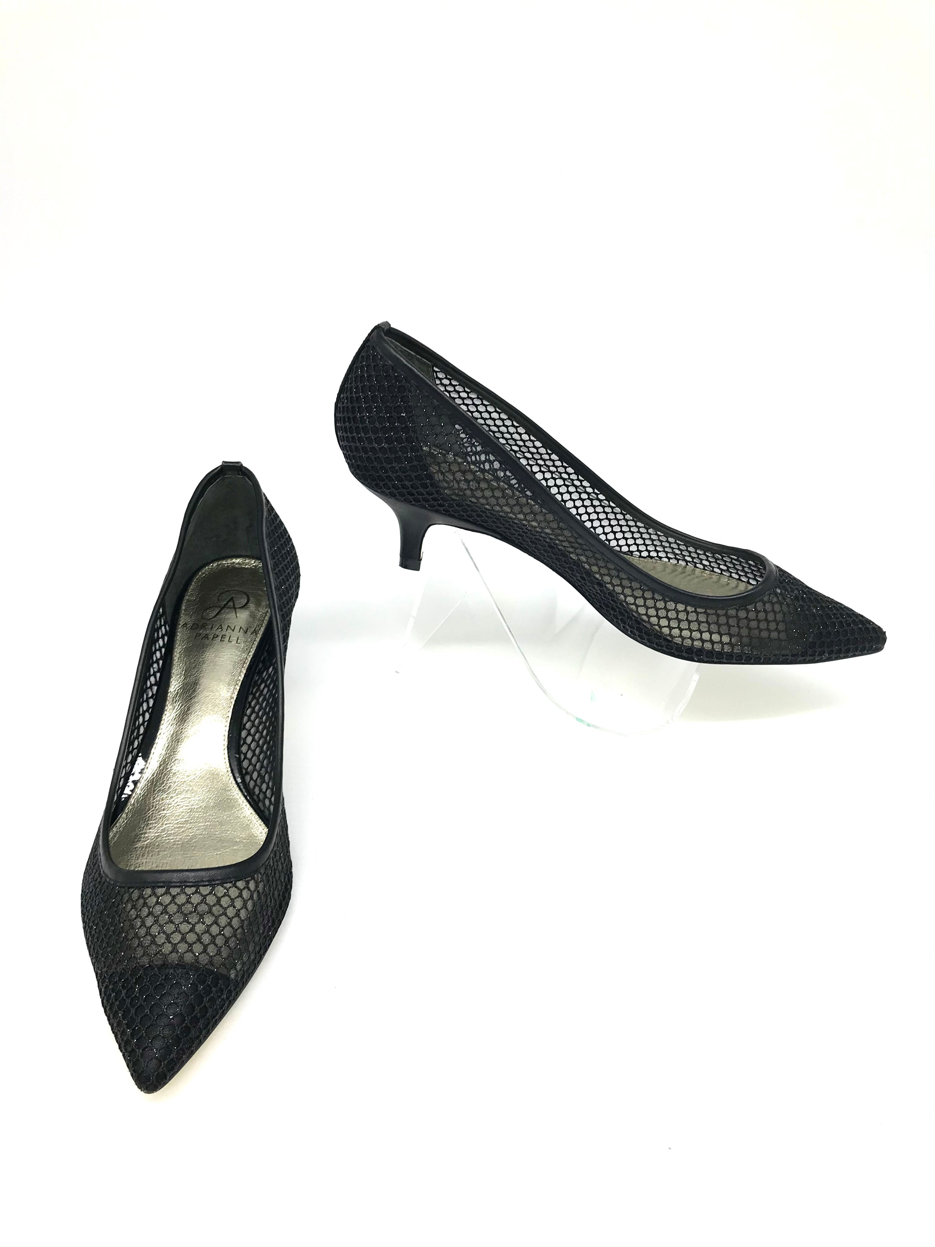 Primary Photo - BRAND: ADRIANNA PAPELL <BR>STYLE: SHOES LOW HEEL <BR>COLOR: BLACK <BR>SIZE: 8 <BR>SKU: 262-26275-70675<BR>AS IS<BR>