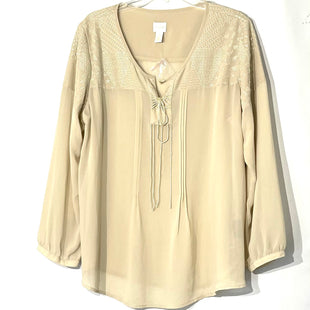 Primary Photo - BRAND: CHICOS STYLE: BLOUSE COLOR: BEIGE SIZE: XL /3SKU: 262-26211-140112