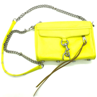 "Primary Photo - BRAND: REBECCA MINKOFF STYLE: HANDBAG DESIGNER COLOR: YELLOW SIZE: SMALL OTHER INFO: AS IS SLIGHT WEAR SKU: 262-262101-2347SOME GENTLE WEAR. APPROX. 8.75""L X 6.5""H X 1.75""D"