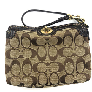 "Primary Photo - BRAND: COACH STYLE: WRISTLET COLOR: MONOGRAM SKU: 262-26275-74467APPROX. 7.5""L X 5""H X 1.5""D. SOME SLIGHT WEAR"