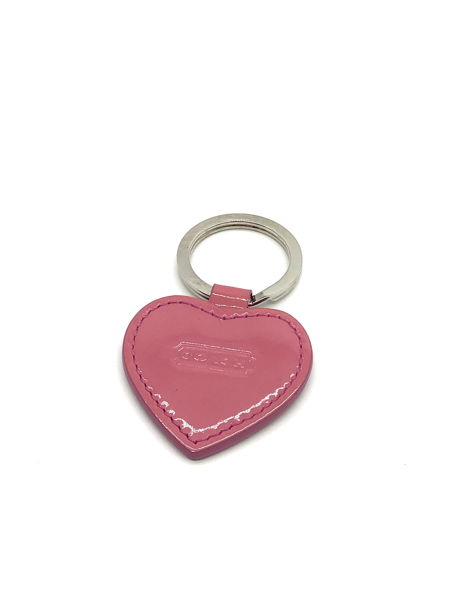 Primary Photo - BRAND: COACH <BR>STYLE: HEART KEYCHAIN <BR>COLOR: PINK<BR>SKU: 262-26241-42473<BR>SLIGHT WEAR - AS IS