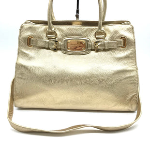 "Primary Photo - BRAND: MICHAEL KORS STYLE: HANDBAG DESIGNER COLOR: GOLD SIZE: MEDIUM 10.5""H X 16""L X 6""WSTRAP DROP: 16""SKU: 262-26275-70814GENTLE WEAR - AS IS"