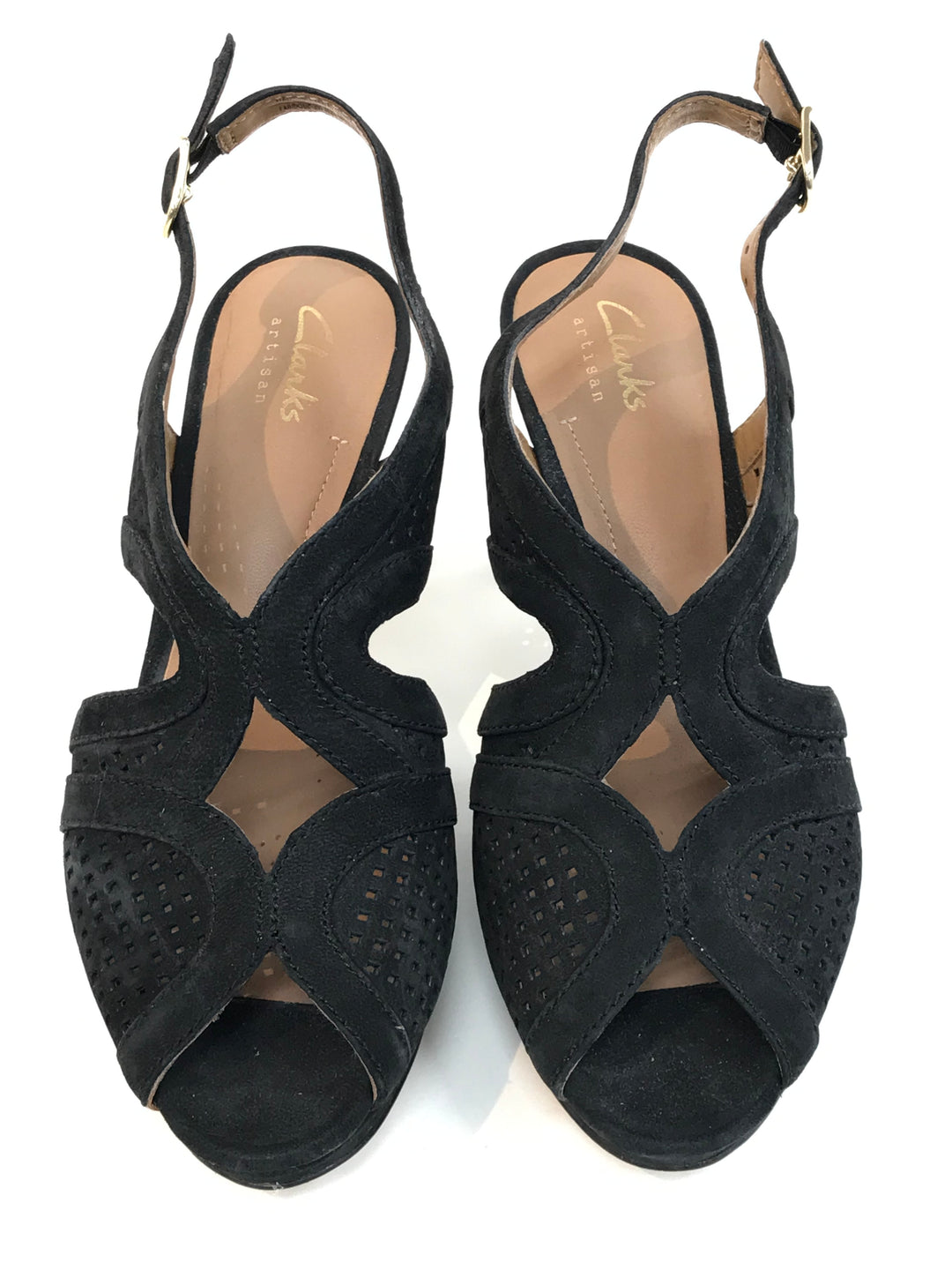 Primary Photo - BRAND: CLARKS <BR>STYLE: SANDALS LOW<BR>COLOR: BLACK <BR>SIZE: 6.5 <BR>SKU: 262-26275-46629<BR>AS IS
