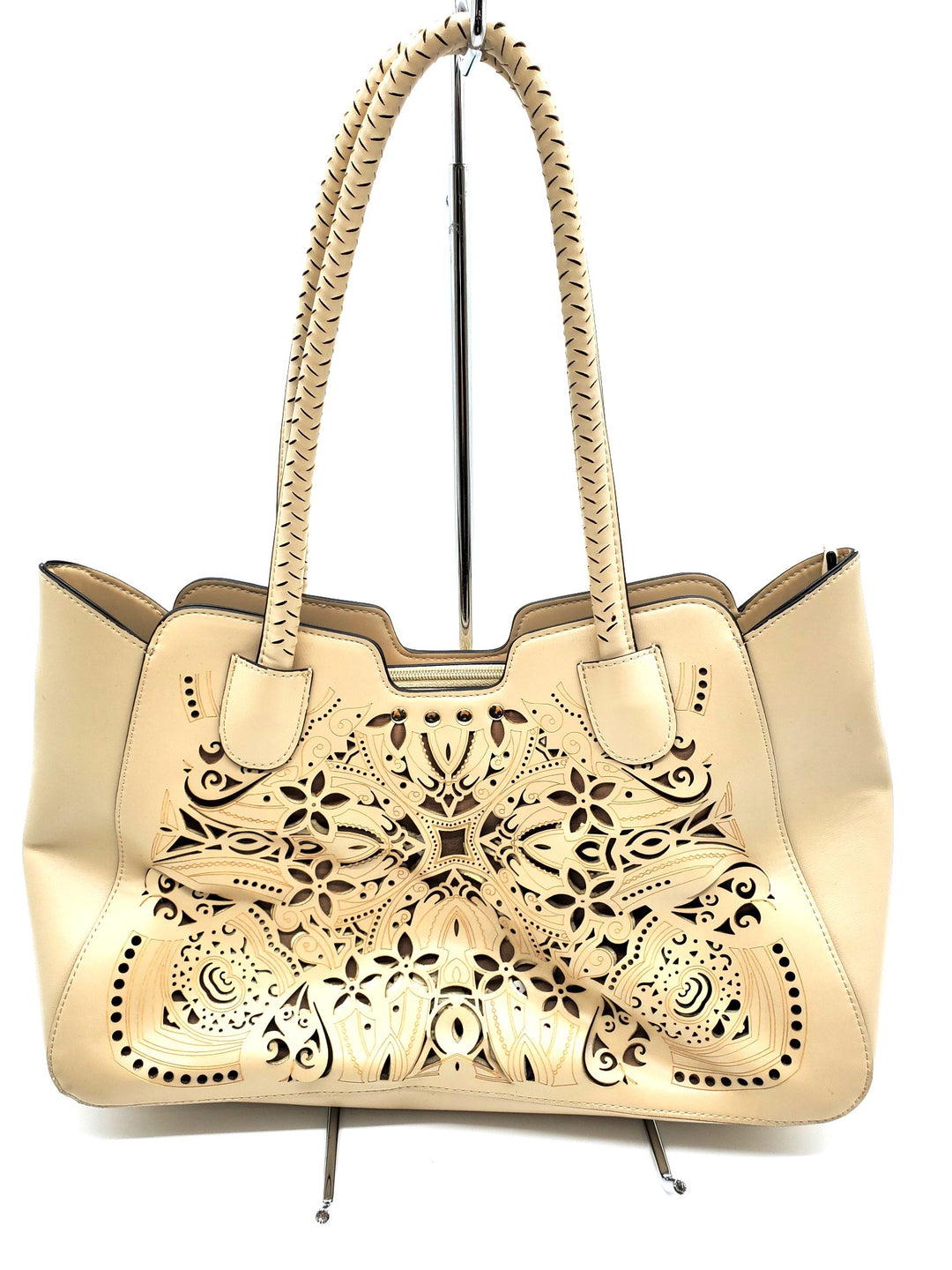 Primary Photo - BRAND: NANETTE LEPORE <BR>STYLE: HANDBAG <BR>COLOR: BEIGE <BR>SIZE: SMALL <BR>SKU: 262-262101-1167<BR>AS IS
