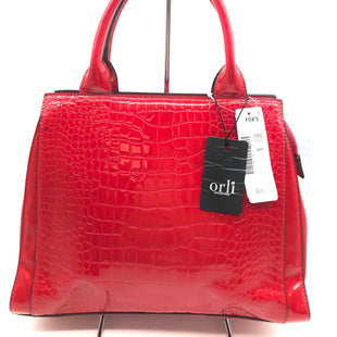 Primary Photo - BRAND:  ORLISTYLE: HANDBAG COLOR: RED SIZE: MEDIUMSKU: 262-26241-42620SLIGHT SPOT : MISSING STRAP - AS IS