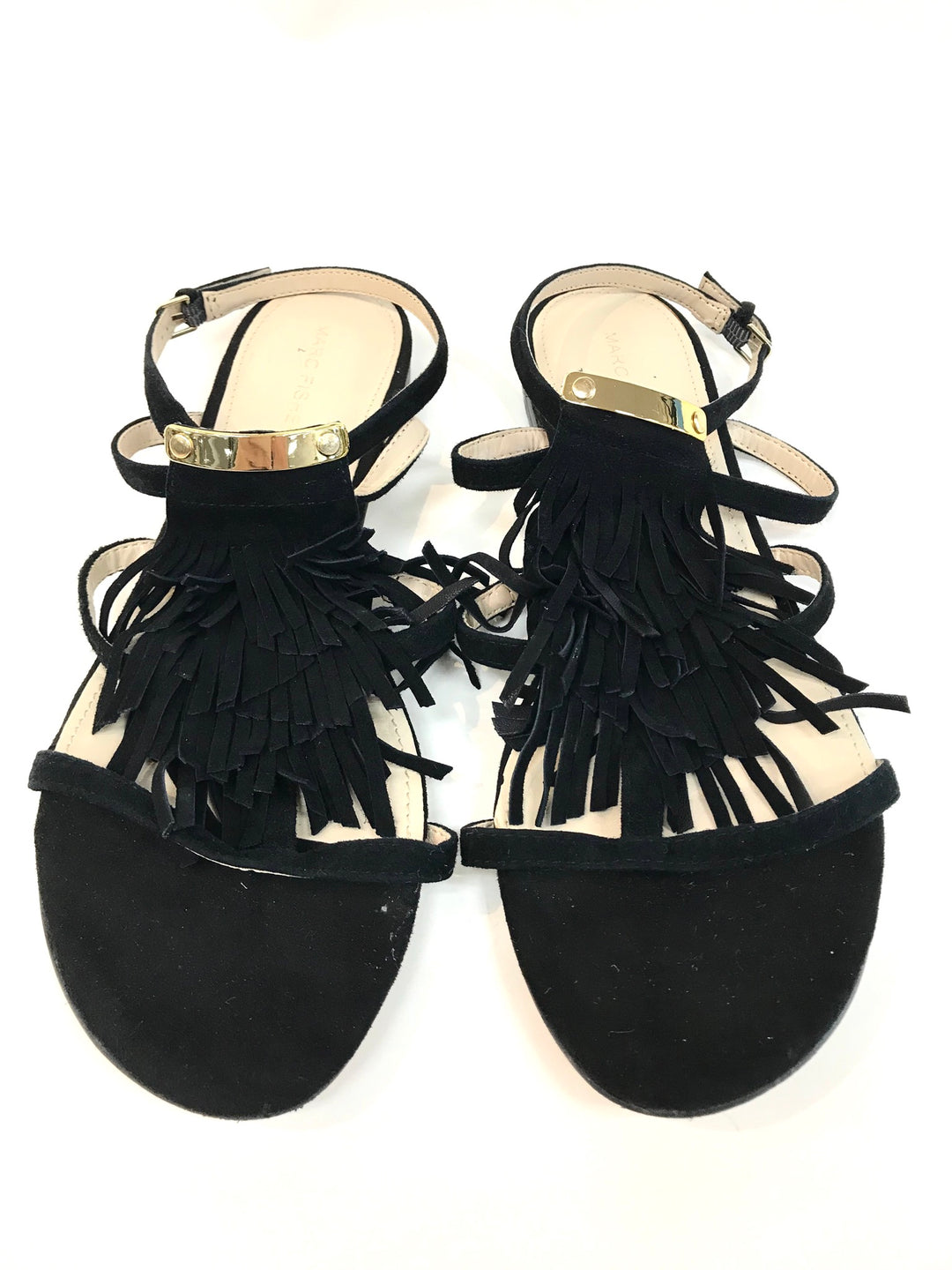 Primary Photo - BRAND: MARC FISHER <BR>STYLE: SANDALS FLAT <BR>COLOR: BLACK <BR>SIZE: 9 <BR>SKU: 262-26275-61565<BR>AS IS