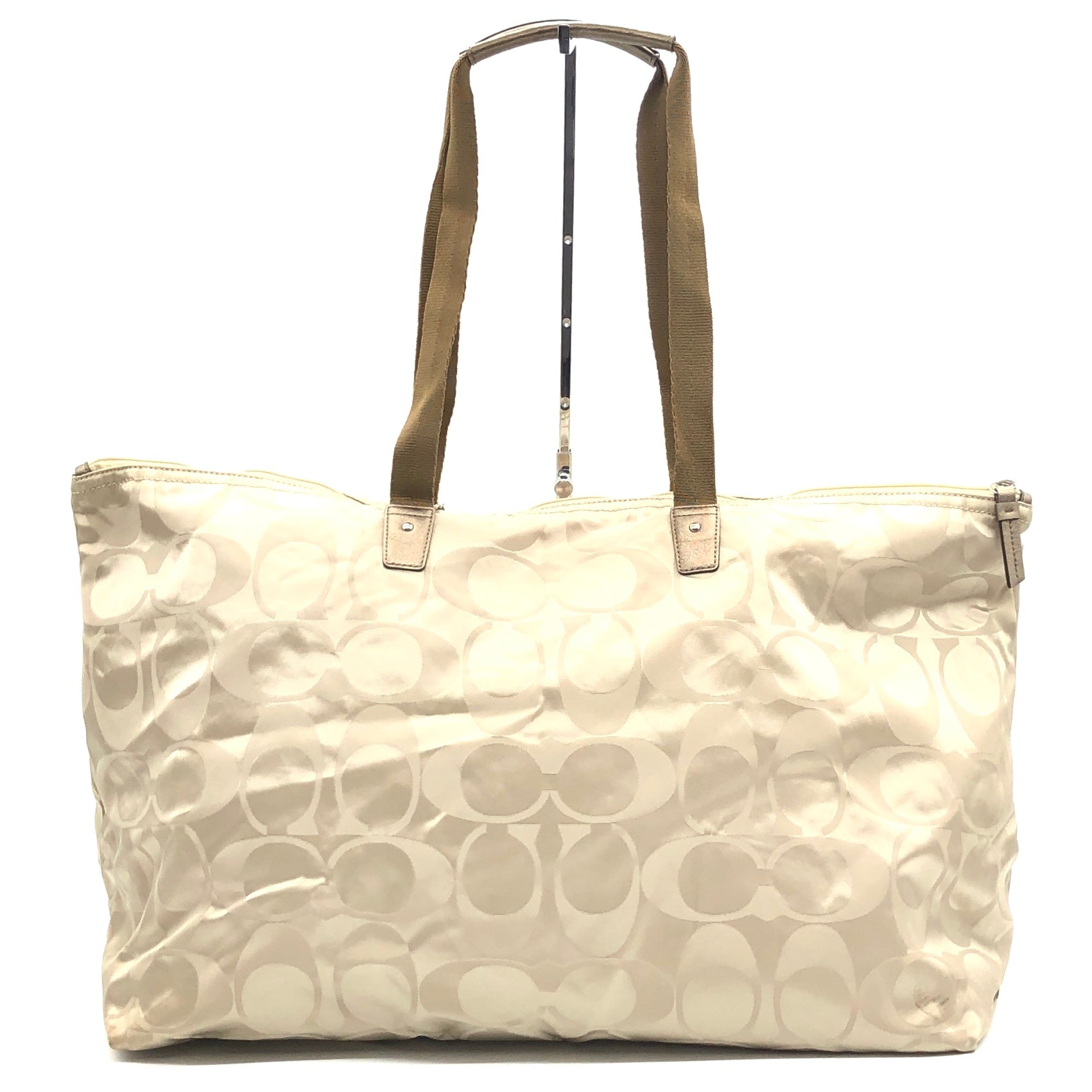 "Photo #1 - BRAND: COACH <BR>STYLE: HANDBAG <BR>COLOR: BEIGE <BR>SIZE: LARGE 14""H X 23""L X 9""H<BR>SKU: 262-26275-74432<BR>GENTLE WEAR - AS IS"