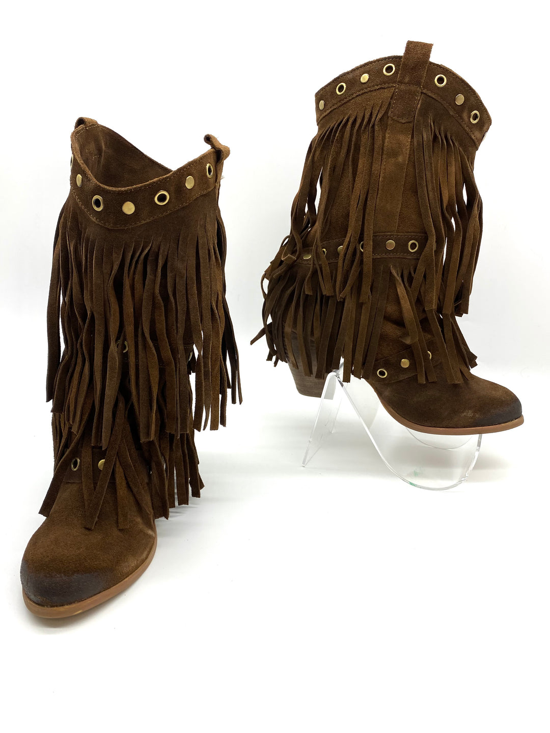 Primary Photo - BRAND: NAUGHTY MONKEY <BR>STYLE: BOOTS ANKLE <BR>COLOR: BROWN <BR>SIZE: 7.5 <BR>SKU: 262-26275-68411