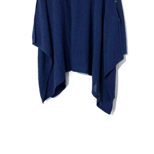 Primary Photo - BRAND: J JILL STYLE: SHAWL PONCHO COLOR: NAVY SIZE: MSKU: 262-26275-7018555% COTTON