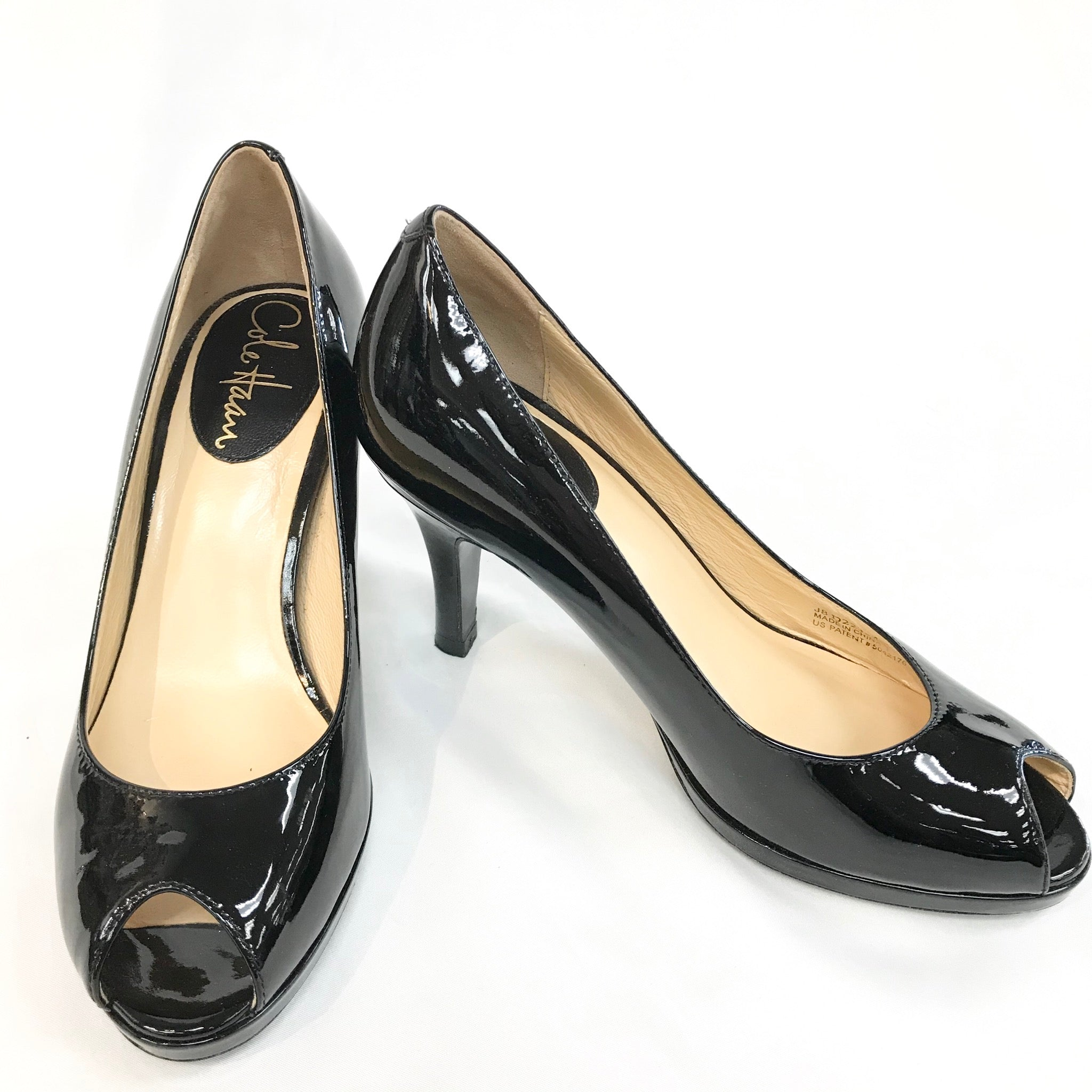 Photo #1 - BRAND: COLE-HAAN O <BR>STYLE: SHOES LOW<BR>COLOR: BLACK <BR>SIZE: 5 <BR>SKU: 262-26211-133347<BR>AS IS