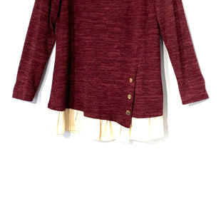 Primary Photo - BRAND:    VISION USASTYLE: TOP LONG SLEEVE COLOR: MAROON SIZE: MOTHER INFO: VISION USA - SKU: 262-26275-722935% SPANDEX