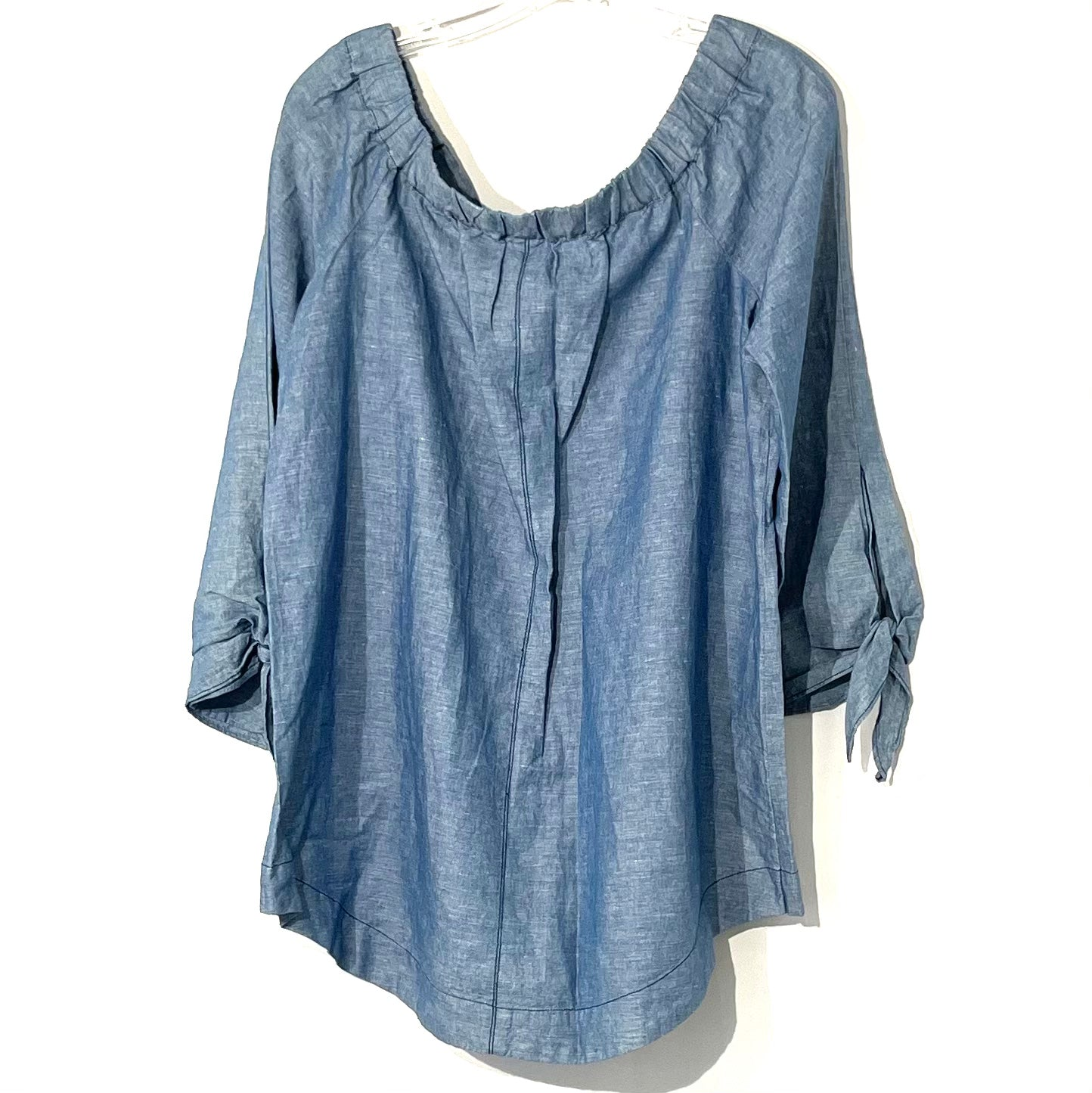 Photo #1 - BRAND: FREE PEOPLE <BR>STYLE: TOP LONG SLEEVE <BR>COLOR: BLUE<BR>SIZE: M <BR>SKU: 262-26275-74382<BR>OFF SHOULDER STYLE