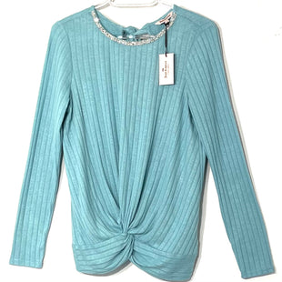 Primary Photo - BRAND: JUICY COUTURE STYLE: TOP LONG SLEEVE COLOR: TURQUOISE SIZE: S SKU: 262-26275-76106
