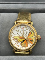 Photo #1 - <P>BRAND: MICHELE <BR>STYLE: LIMITED EDITION BUTTERFLY WATCH - GARDEN PARTY COLLECTION <BR>COLOR: BUTTERFLIES <BR>SKU: 262-26275-69361<BR>WEAR SHOWS ON THE STRAPS <BR>BATTERY NEEDED - AS IS</P>