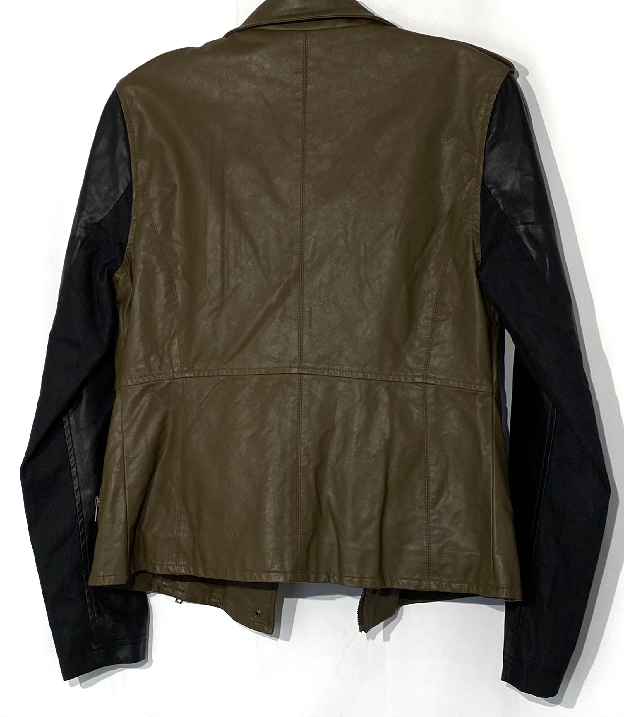 Photo #1 - BRAND: BLANKNYC <BR>STYLE: JACKET OUTDOOR <BR>COLOR: OLIVE <BR>SIZE: S <BR>SKU: 262-26275-69890<BR>LEATHER LOOK