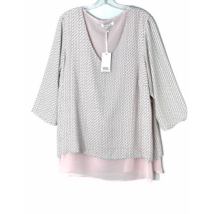 Primary Photo - BRAND: ROSE AND OLIVE STYLE: TOP LONG SLEEVE COLOR: WHITE PINKSIZE: 2X SKU: 262-26241-47559