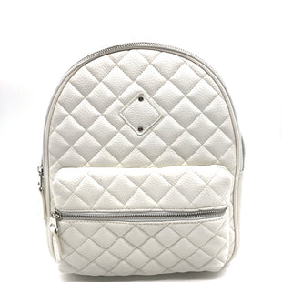 "Primary Photo - BRAND:    ICINGSTYLE: BACKPACK COLOR: WHITE SIZE: MEDIUM OTHER INFO: ICICNG - SKU: 262-26275-74685APPROX. 10""L X 13""H X 4.75""D. SLIGHT WRINKLES ON BOTTOM"