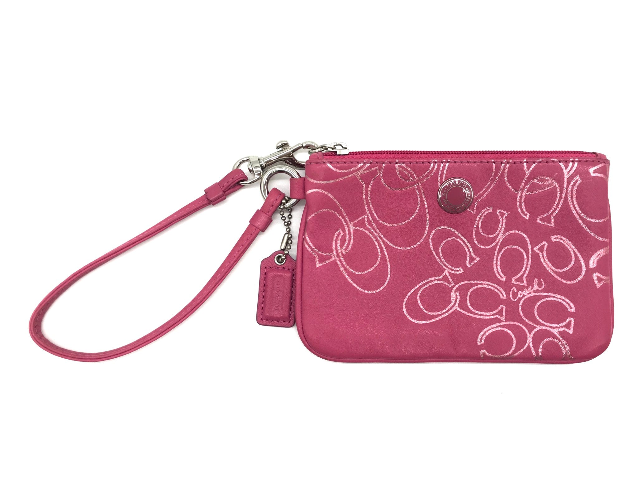 Primary Photo - BRAND: COACH<BR>STYLE: COIN PURSE <BR>COLOR: PINK <BR>SIZE: MEDIUM<BR>SKU: 262-26241-41615<BR>GENTLE WEAR AS IS <BR>DESIGNER BRAND - FINAL SALE