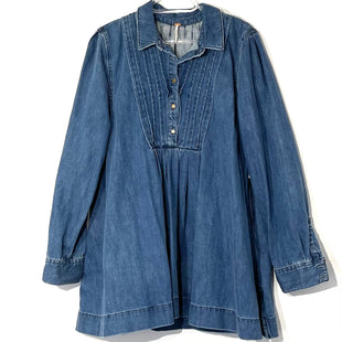 Primary Photo - BRAND: FREE PEOPLE STYLE: DRESS SHORT LONG SLEEVE COLOR: DENIM SIZE: L SKU: 262-26275-76372