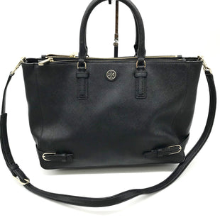 "Primary Photo - BRAND: TORY BURCH STYLE: HANDBAG DESIGNER COLOR: BLACK SIZE: MEDIUM OTHER INFO: AS IS TARNISH HARDWARE & WEAR ON CORNERS SKU: 262-26275-68639APPROX 15""X10""X6""DESIGNER BRAND FINAL SALE"